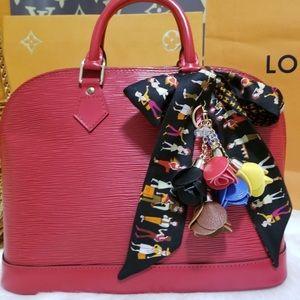 💯%authentic Louis Vuitton epi alma red pm